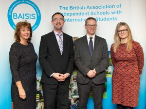 from left to right: Caroline Nixon BAISIS General Secretary, Julian Baker, BAISIS Chairman, Robin Fletcher CEO BSA, Elyse Conlon BAISIS Executive Committee member