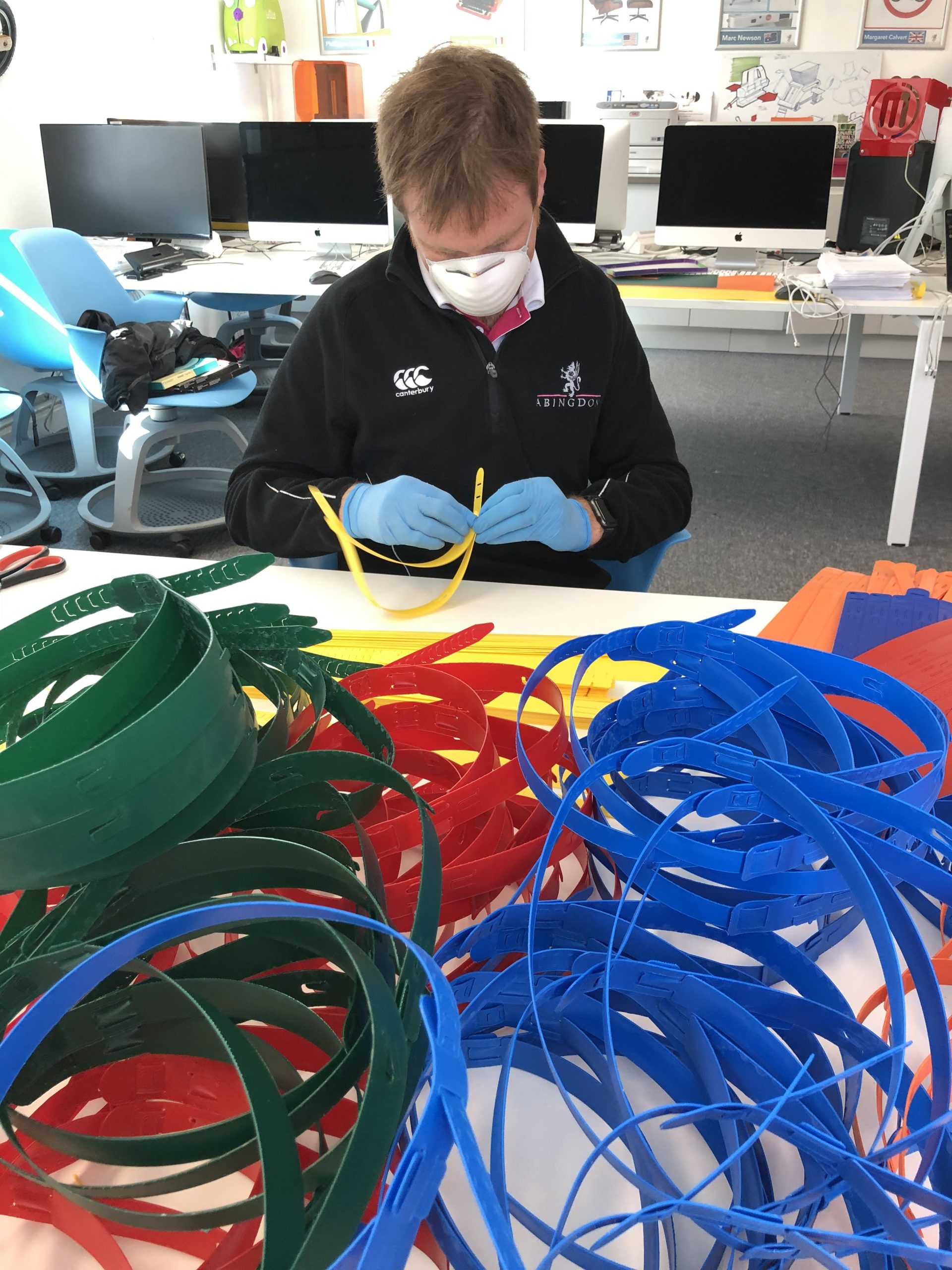 Abingdon School D&T Department produce PPE visors for the NHS