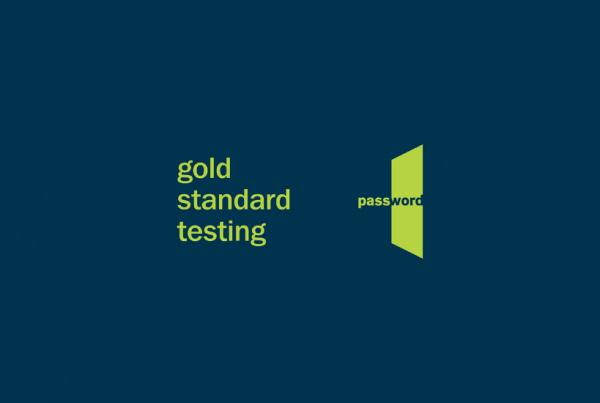 Gold Standard Testing Password Logo
